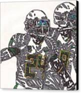 Kenjon Barner And Marcus Mariota Canvas Print by Jeremiah Colley