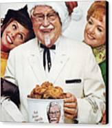 Kentucky Fried Chicken Ad Canvas Print