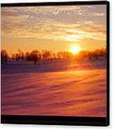 Kentucky Winter Sunrise Canvas Print