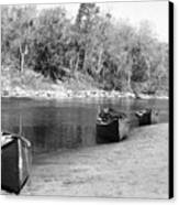 Kerr Lake Canoes Canvas Print