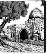 Kewer- Tomb  Rachel Canvas Print by Jonatan Kor