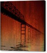 Key Bridge Artistic  In Baltimore Maryland Canvas Print by Skip Willits
