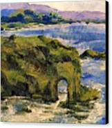 Key Hole Arch Bright Sun Canvas Print