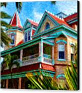 Key West Southern Most Hotel Canvas Print by Bill Cannon