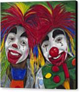 Kid Clowns Canvas Print by Patty Vicknair