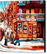 Kik Cola Depanneur Canvas Print
