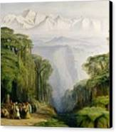 Kinchinjunga From Darjeeling Canvas Print by Edward Lear