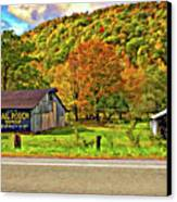 Kindred Barns Painted Canvas Print