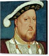 King Henry Viii Canvas Print by Hans Holbein the Younger
