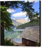 Kintla Lake Ranger Station Glacier National Park Canvas Print by Marty Koch