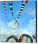 Kite Festival At Lincoln City Oregon Canvas Print by Margaret Hood