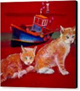 Kittens On The Beach Canvas Print