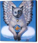 Kitty Yin Yang- Cat Angel Canvas Print