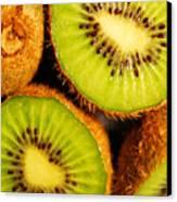 Kiwi Fruit Canvas Print by Nancy Mueller