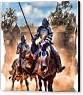 Knights Of Yore Canvas Print