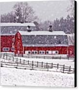 Knox Farm Snowfall Canvas Print by Don Nieman