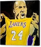 Kobe Bryant Canvas Print by Estelle BRETON-MAYA