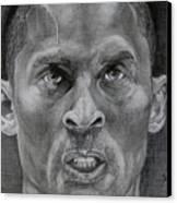 Kobe Bryant Canvas Print by Stephen Sookoo