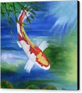 Kohaku Koi Fish 2 Canvas Print