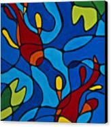 Koi Fish Canvas Print by Sharon Cummings