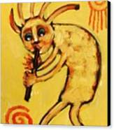 Kokopelli Watches Canvas Print by Carol Suzanne Niebuhr