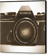 Konica Tc 35mm Camera Canvas Print by Mike McGlothlen