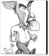 Konrad Lorenz, Caricature Canvas Print