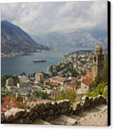 Kotor Panoramic View From The Fortress Canvas Print by Kiril Stanchev