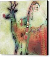 Kris And Rudolph Canvas Print by Arline Wagner