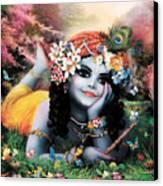 Krishna-sky Boy Canvas Print by Lila Shravani
