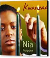 Kwanzaa Nia Canvas Print by Shaboo Prints