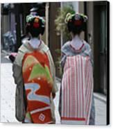 Kyoto Geishas Canvas Print