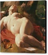 La Bacchante Canvas Print by Gustave Courbet