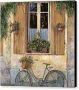 La Bici Canvas Print by Guido Borelli