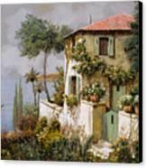 La Casa Giallo-verde Canvas Print