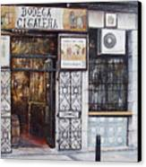 La Cigalena Old Restaurant Canvas Print by Tomas Castano