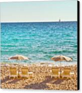 La Croisette Beach, Cannes, Cote D'azur, France Canvas Print by John Harper