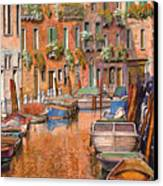 La Curva Sul Canale Canvas Print by Guido Borelli