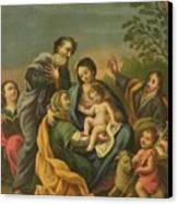 La Familia Con Los Santos Juanes Canvas Print