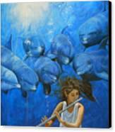 La Flautista Canvas Print