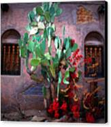La Hacienda In Old Tuscon Az Canvas Print by Susanne Van Hulst