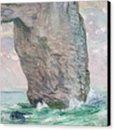 La Manneporte A Etretat Canvas Print by Claude Monet