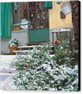 La Neve A Casa Canvas Print by Guido Borelli