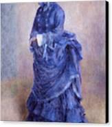 La Parisienne The Blue Lady  Canvas Print