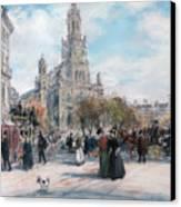 La Place De Trinite Canvas Print by Jean Francois Raffaelli