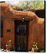 La Puerta Marron Vieja - The Old Brown Door Canvas Print