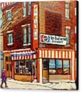 La Quebecoise Restaurant Deli Canvas Print