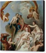 La Toilette De Venus Canvas Print by Francois Lemoyne