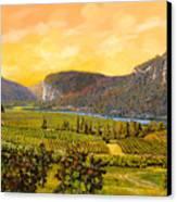 La Vigna Sul Fiume Canvas Print