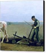 Labourer And Peasant  Canvas Print by Vincent van Gogh